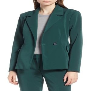 Halogen Scuplted Blazer fitted double breasted NWT